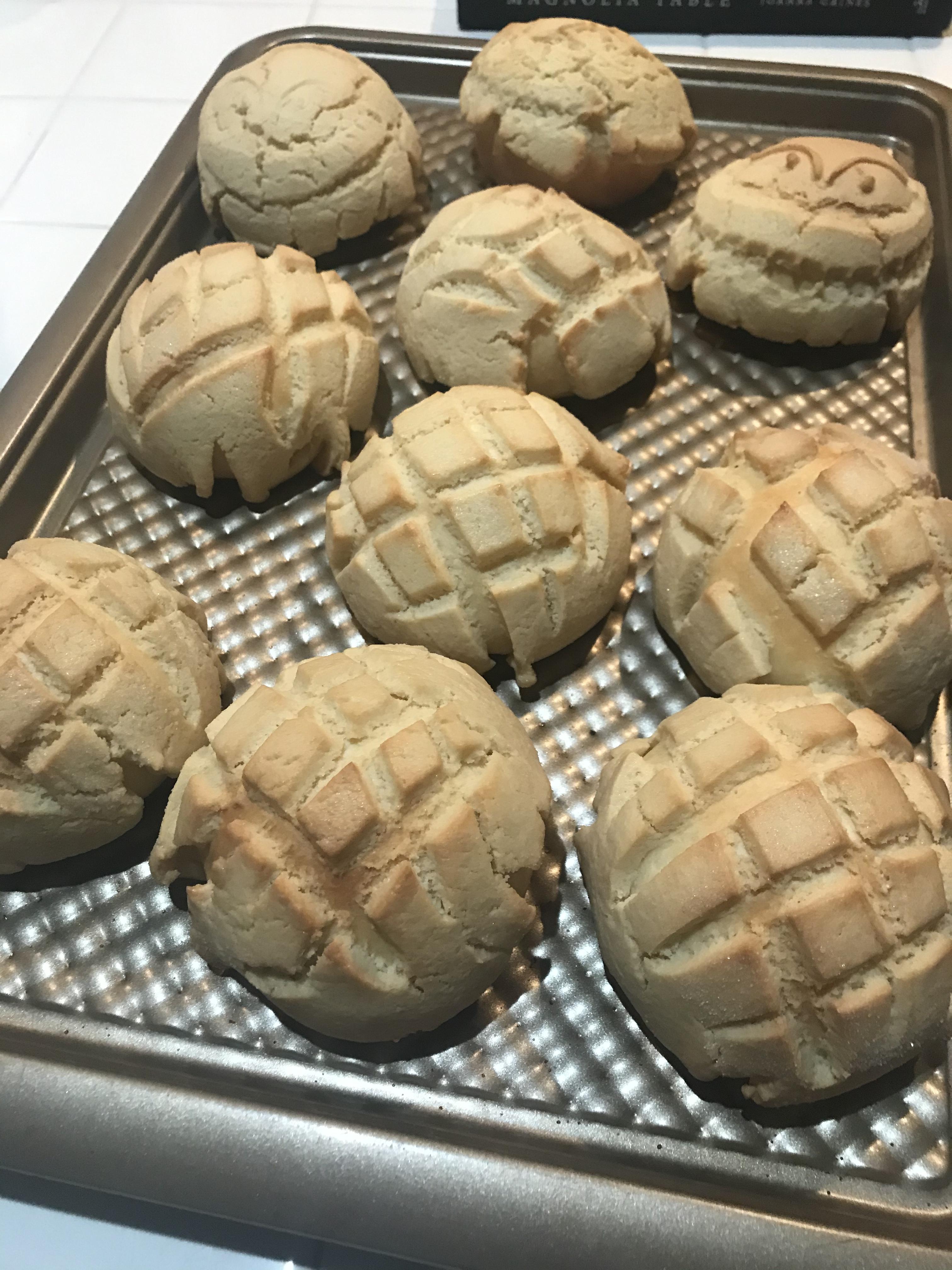 Melon Pan Japanese Sweet Bread Bun At Home With Theresa